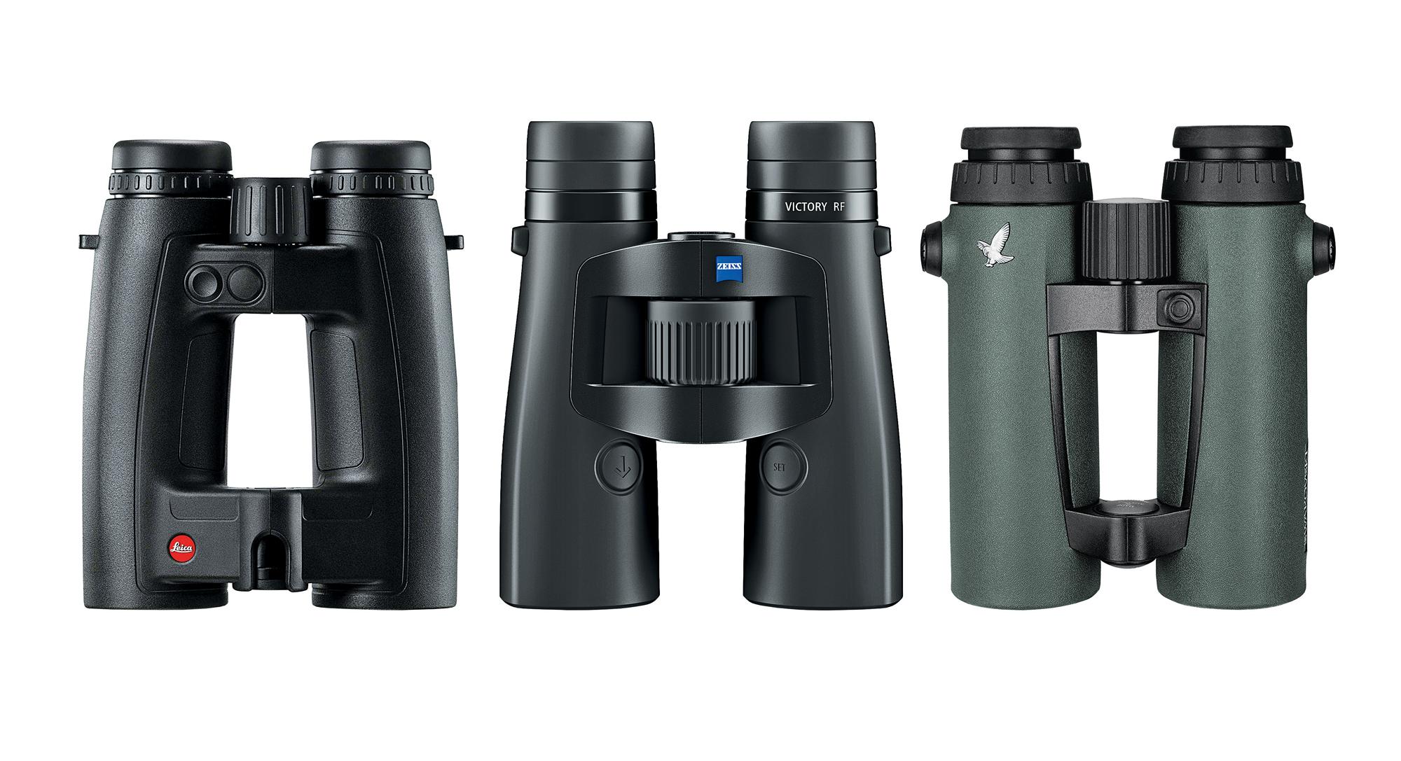 Lica, Zeiss, and Swarovski rangefinding binoculars.