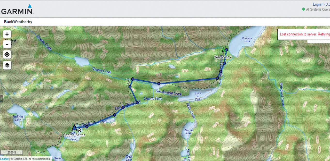 example of using a GPS map for horseback hunting
