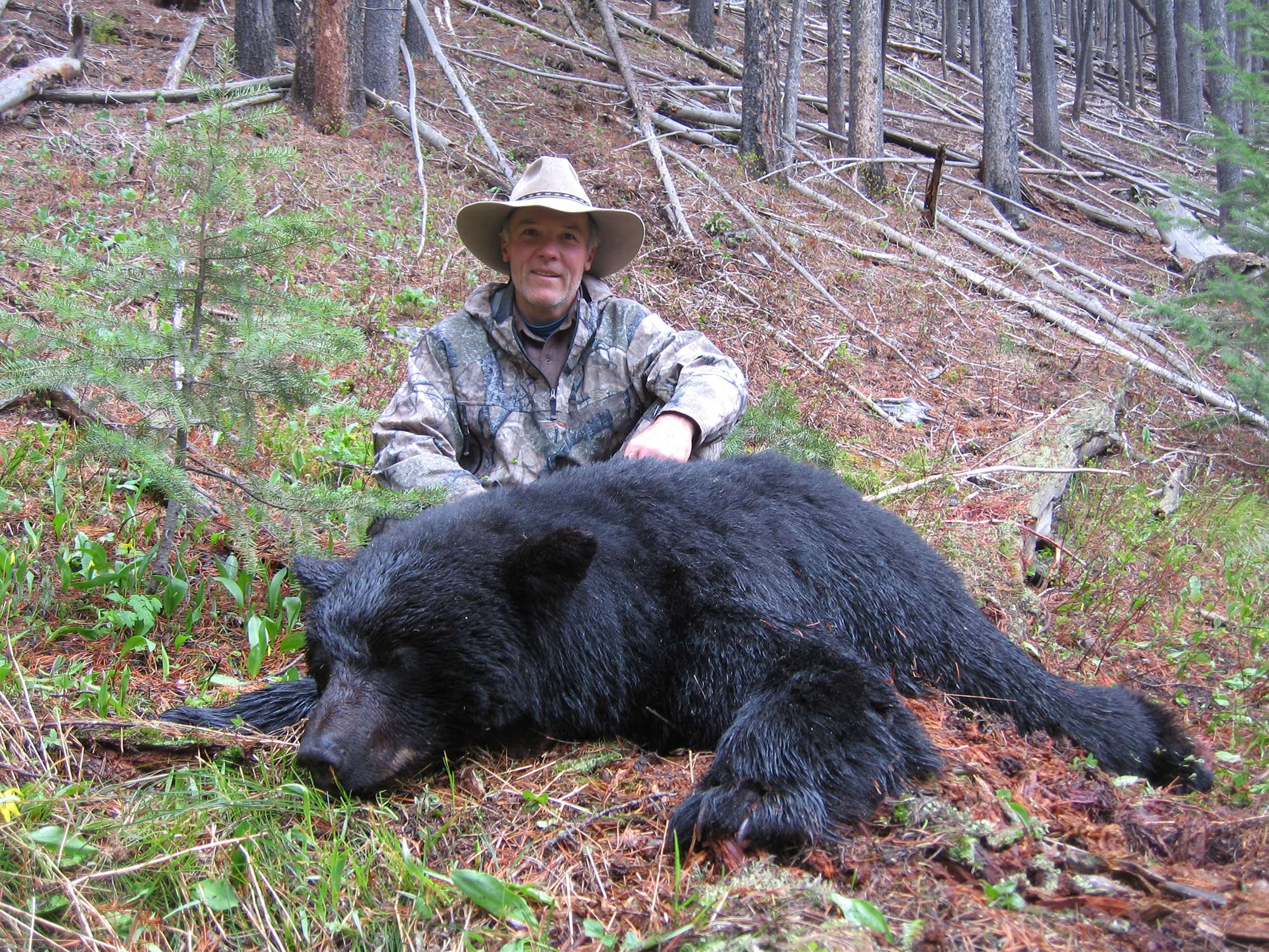 Bill Wilson with a spring bear he got in 2011.